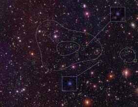 Protogromada galaktyk PC217.96+32.3 odległa o 12 mld lat świetlnych