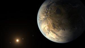 Planeta pozasłoneczna Kepler-186f w wizji artysty