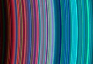 Pierścienie Saturna sfotografowane przez sondę Cassini