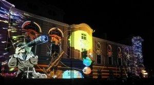 Bella Skyway Festival - jedna z instalacji świetlnych