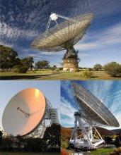Radioteleskopy Parkes, Lovell Telescope, Effelsberg
