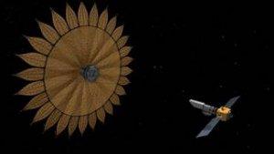 Ilustracja przedstawiająca przesłonę między teleskopem a układem planetarnym