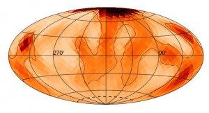 Mapa plam na powierzchni gwiazdy Zeta Andromedae