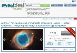 Promocja Uranii na Sweetdeal.pl