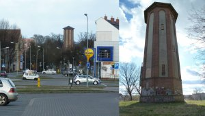 Zabytkowa wieża ciśnień w Szczecinku