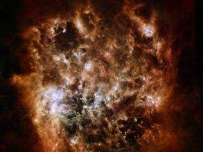 Wielki Obłok Magellana (LMC) w podczerwieni