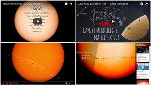 Internetowe transmisje online LIVE - tranzyt Merkurego 9 maja 2016 r.