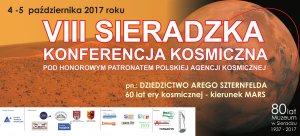 Ulotka reklamowa VIII Sieradzkiej Konferencji Kosmicznej