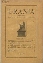 Urania nr 1/1922 (Uranja nr 1/1922)