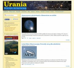 Strona startowa Portalu Uranii - www.urania.edu.pl