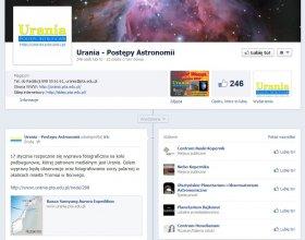 Fanpage Uranii na Facebooku
