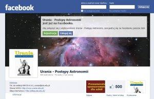 Fanpage Uranii w serwisie Facebook