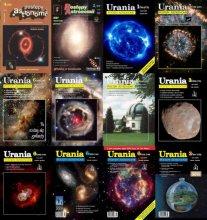 Okładki Uranii z różnych lat