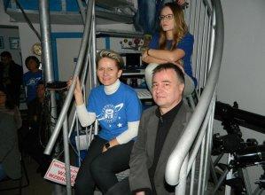 Koordynatorka Astrobazy Kruszwica Ilona Dybicz i dr Ryszard Gabryszewski z CBK PAN