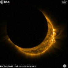 Zacmienie Słońca widziane przez satelitę Proba-2