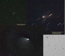Zestaw zdjęć komet z Archiwum Fotografii Komet