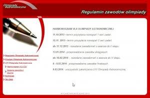Witryna 57. Olimpiady Astronomicznej 2013/2014