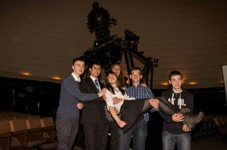 Zofia Kaczmarek i inni laureaci Olimpiady Astronomicznej
