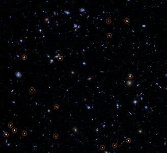 Ultragłębokie Pole Hubble'a zobrazowane przez ALMA