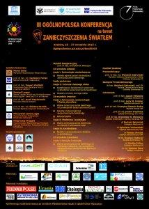 III Ogólnopolska Konferencja na temat Zanieczyszczenia Światłem