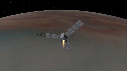 Sonda Juno na orbicie wokół Jowisza - wizja artystyczna
