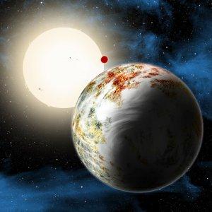 Układ Kepler-10 w wizji artysty