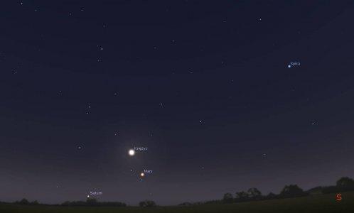 Koniunkcja Marsa i Księżyca 21 maja 2016 r.