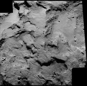 Obszar J - planowane miejsce lądowania Philae na komecie 67P/Churyumov–Gerasimenko