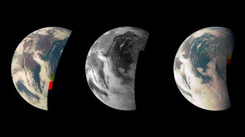Zdjęcia Ziemi wykonane za pomocą JunoCam w 2013 roku