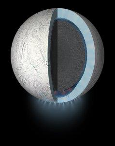 Enceladus i jego podpowierzchniowy ocean