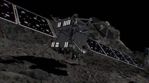 Sonda Rosetta tuż przed upadkiem na kometę (wizja artysty)