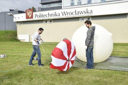 Wrześniowy start balonu z eksperymentem studentów (fot. materiały koła WSAG)