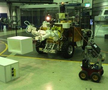 Łazik Eurobot sterowany przez Andreasa Mogensena