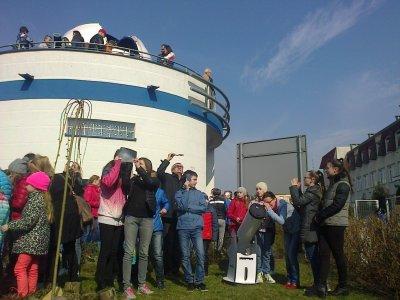Astrobaza w Kruszwicy - obserwacje zaćmienia Słońca