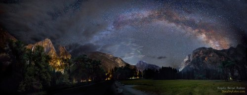 Akwaryd ponad Yosemite w 2014 roku. Źródło: APOD/Rogelio Bernal Andreo