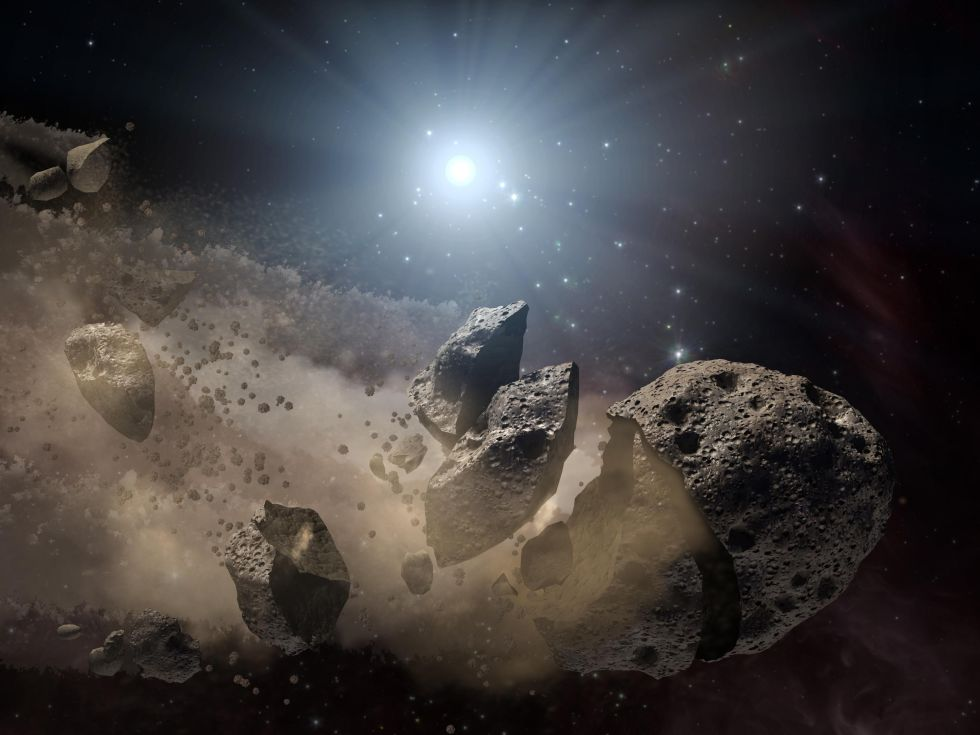 Asteroid breakup