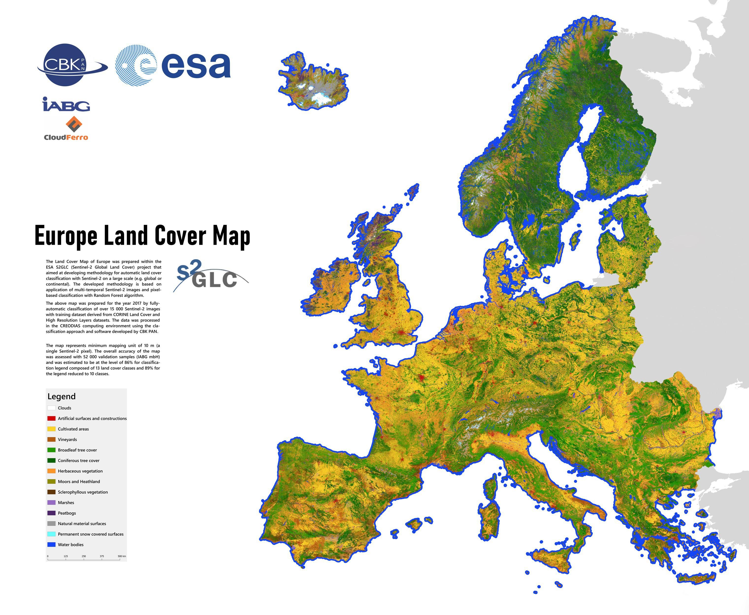 Nowa Mapa Pokrycia Terenu W Europie Opracowana Przez Naukowcow Z